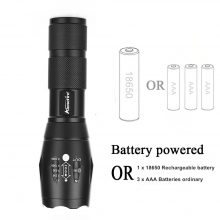 Aluminium Waterproof LED Flashlight (rechargeable)