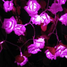 Rose Multicoloured LED String Lights Battery Event Christmas Wedding Birthday Party Decoration