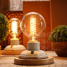 Industrial Table Lamp with Edison Bulb