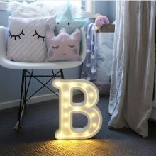 Luminous LED Letter Shaped Light